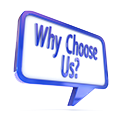 why choose us sign